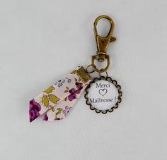 """Porte clef """"Merci Maîtresse"""" cabochon rétro vintage #3 : Porte clés par creation-ninie"""