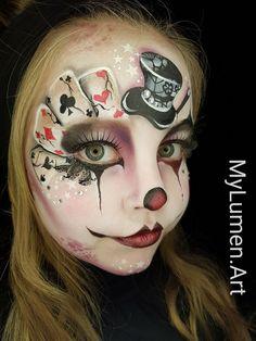 Magician face paint - Hobbies paining body for kids and adult Face Paint Makeup, Eye Makeup, Clown Face Paint, Zombie Makeup, Scary Makeup, Adult Face Painting, Monster Makeup, Fantasy Make Up, Halloween Makeup