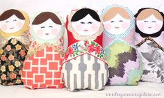 a creative day: DIY Christmas Series / DIY Russian Dolls / Leopard and Plaid Stuffed Animal Patterns, Diy Stuffed Animals, Stuffed Toys, Diy Russian Dolls, Diy For Kids, Gifts For Kids, My Sewing Room, Sewing Toys, Sewing Projects For Kids