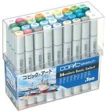 New Too COPIC Sketch Marker 36 Color Art Set for manga Anime Doujinshi F/S Japan