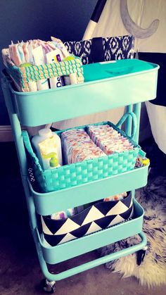 My DIY Diaper cart!!