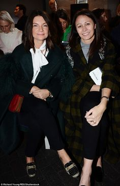 Yasmin and Amber Le Bon look like sisters at LFW   Daily Mail Online