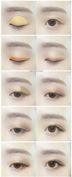 Natural eye makeup Asian look #natural #asian #eyemakeup
