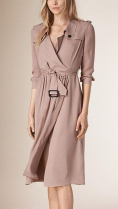 Burberry Silk Trench Dress