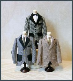 Dollhouse, doll house miniature suit coat. Men's coats.