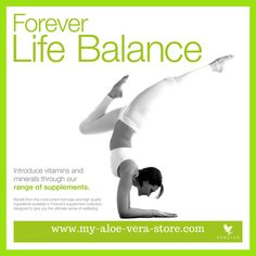 A great way of obtaining Life Balance is via Forever's VITAL5 - 5 key products carefully selected to work together synergistically for optimum health. Find VITAL5 info video on this board, or else via this link: https://www.facebook.com/aloeveradiet4u/  OR check out Forever's whole range under NUTRITIONAL SUPPLEMENTS in our international online store: www.my-aloe-vera-store.com #vital5 #forevervital5