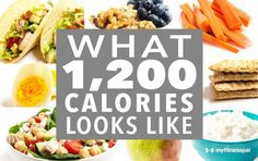 What 1,200 Calories Looks Like [Infographic]