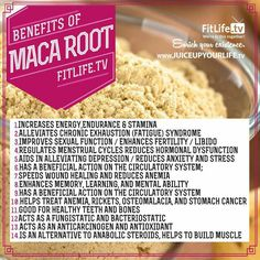 Maca. Good in smoothies or baking. 1/2 t per day