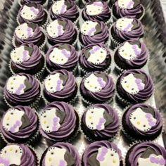 Purplicious Graduation Hello Kitty Cup Cakes www.maedbymaggie.blogspot.com