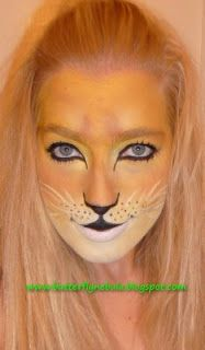 Butterfly Nebula: Face painting, a lioness