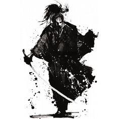 Samurai Ronin Coffee Mug by Imagenaction - 11 oz Samourai Tattoo, Japanese Ink Painting, Brust Tattoo, Samurai Artwork, Ghost Of Tsushima, Sketches Of People, Japanese Sleeve Tattoos, Tattoo Project, Tattoo Ideas