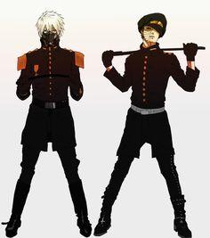 kakashi and obito like a police