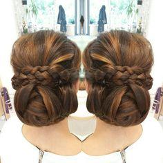 Wedding hair by our team ♡