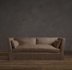 Belgian Shelter Arm Slipcovered Sofa