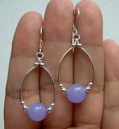 Smooth-Lavender-Jade-Sterling-Silver-Hoop-Earrings-A0211