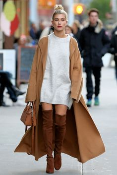 Hailey Baldwin Takes on Three Fall Trends at Once in New York