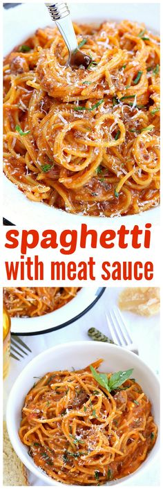 ... meat sauce comes together in no time making it perfect for those busy