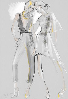 Julija Lubgane Illustration | Chicago Fashion Illustrator and artist | ILLUSTRATIONS