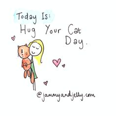 """National """"Hug Your Cat Day"""""""