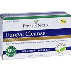 Forces of Nature Organic Fungal Cleanse - 3.5 oz - We blended certified organic medicinal plant extracts with the proven ability to safely destroy a wide spectrum of fungi with all natural healing botanicals to create Fungal Cleanse Medicated Soap. This antifungal cleansing bar is the world's only Certified Organic FDA Registered antifungal cleansing agent. There is nothing else out there like. It is the gold standard in healing. Fungal Cleanse not only has incredible antifungal properties…