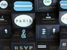 fun type by Erin Jang | The Indigo Bunting: Paris Wedding Invitations