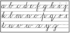 Cursive Alphabet Printable, Cursive Letters Worksheet, Cursive Words, Writing Cursive, Calligraphy Writing, Copperplate Calligraphy, Letter Tracing, Alphabet Letters, Script Alphabet