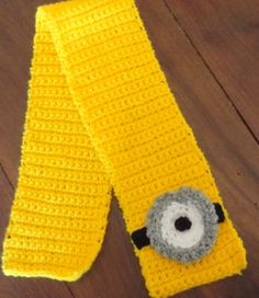 Bufanda tematica infantil tejida al crochet
