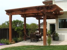 Shade structure for back of yard