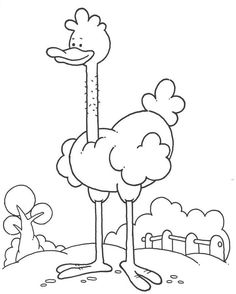 Avestruz Colorea More Information Keep Younger Kids Entertained With These Free Printable Coloring Pages