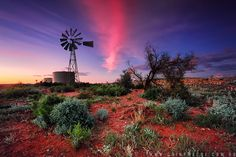{Escape} Broken Hill, NSW, Australia photo by Cain Pascoe Australia Photos, Australia Travel, Places Around The World, Around The Worlds, Landscape Photography, Nature Photography, Windmill Hill, Old Windmills, Land Of Oz