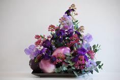 Fior déco: Melanzane violette tonde