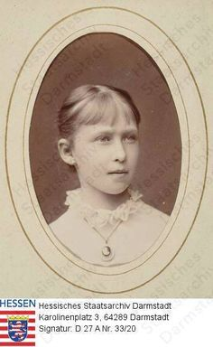 Young Princess Irene (Irene Luise Maria Anna) (11 Jul 1866-11 Nov 1953) Hesse by unknown photographer. Irene was 3rd child of Louis IV (1837-1892) Hesse & Princess Alice (1843-1878) UK.