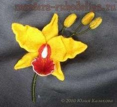Мастер-класс по валянию на каркасе орхидеи