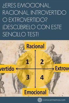 Eres emocional racional introvertido o extrovertido? Descúbrelo con este sencillo test! #autoayuda