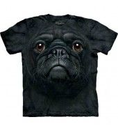 Black Pug Face T Shirt - by the Mountain
