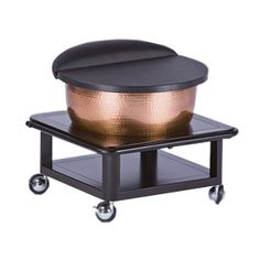Copper Bowl Roll Up Footbath from Living Earth Crafts