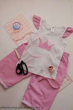 pijama rosa  com coroa