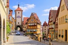 The town of Rothenburg ob der Tauber, in the southern German state of Bavaria.