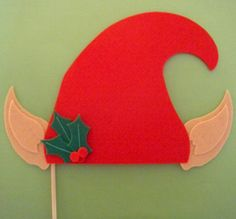 Hat on a Stick  The Christmas Elf by MaroDesigns on Etsy, $7.95