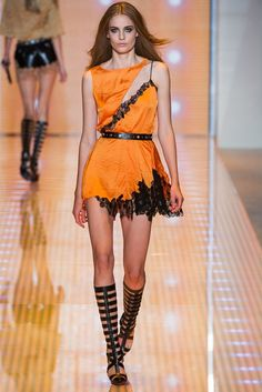 Versace Spring - Summer 2013. Model: Nadja Bender. (=)