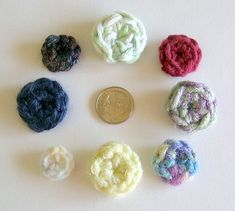 Simple Crochet Buttons - Very nice pdf pages), but the last page contains all the instructions for a money saving print out. So you get all the photo's for a step by step process, plus an easy print out! Crochet Needles, Crochet Stitches, Knit Crochet, Crochet Crafts, Yarn Crafts, Crochet Projects, Stitch Patterns, Crochet Patterns, Crochet Appliques