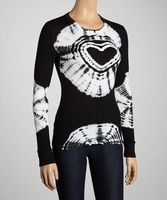Take a look at this Black Heart Tie-Dye Top by Hodges Collection on #zulily today!
