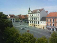 Live camera ohled z radnice smer Husovo namesti Roudnice nad Labem, Czech Republic.