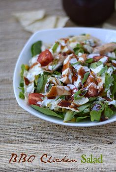 BBQ Chicken Salad | cookingwithcurls.com