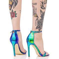Mermaid Stiletto Heels ($35) ❤ liked on Polyvore featuring shoes, pumps, stiletto heel pumps, spiked heel shoes, stiletto pumps, iridescent pumps and liliana footwear