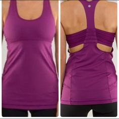 ***GONE***Lululemon Turbo Tank Excellent condition,turbo tank in purple lululemon athletica Tops Tank Tops