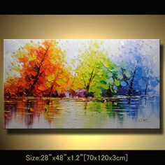 contemporary wall art,, Modern Textured Painting,Impasto Landscape Textured Modern Palette Knife Painting,Painting on Canvas byChen x16