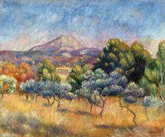 Sainte Victoire Mountain - Pierre Auguste Renoir