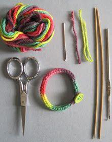 Discoknits: I-Cord Friendship Bracelets