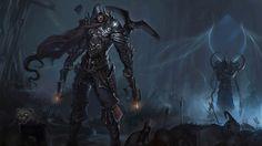 Wallpaper diablo 3 hunter raven crossbow dark armor ruin skull 1920x1080